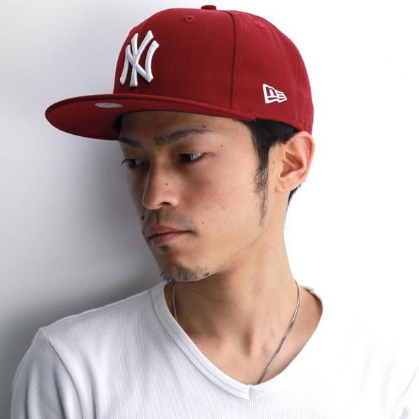 0634b2f18fc NEWERA Cap mens new era new era 59FIFTY NY Yankees Cardinal snow white  baseball cap