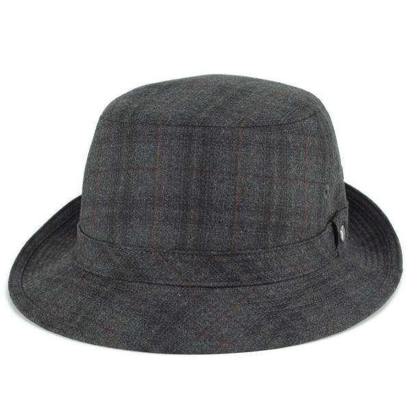 ボルサリーノ 帽子 メンズ borsalino ハット 秋冬 ウール グレンチェック ブランド帽子 日本製 小さいサイズ LLサイズ カーキ(紳士 ウールハット 40代 50代 60代 ファッション 秋冬 大きいサイズ 大きめ チェック 中央帽子 男性 紳士帽子 メンズハット ぼうし) [alpine hat]