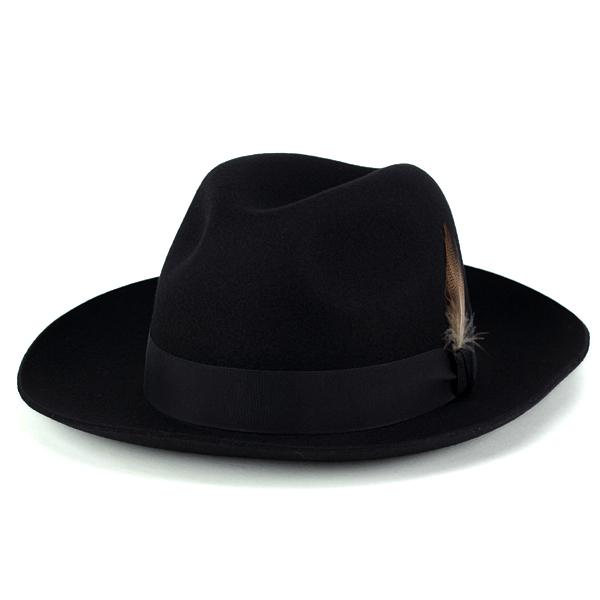 18f69182901b2e ELEHELM HAT STORE: Christie's hat autumn/winter men's London brim wide Hat  wide brim gentleman Hat CHRISTYS ' LONDON Grosvenor Fedora black (59 cm 61  cm ...