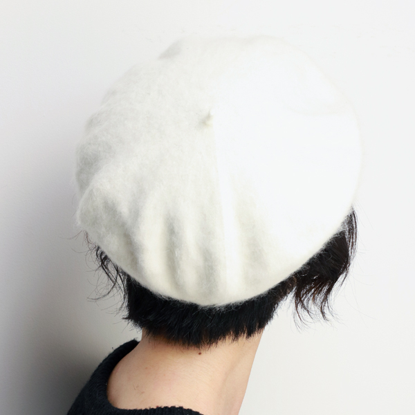 4c093524414 Brand LAULHERE Angola beret woman hat product made in warm hat small size  ロレールローレール hair beret Buddha adjustable size six colors development white ...