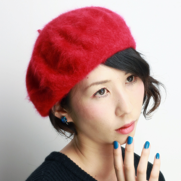 a5128ed5931 ELEHELM HAT STORE  Six colors of LAULHERE beret lady s laurel product made  in small size low rail hair Buddha development ロレール red red (children ...