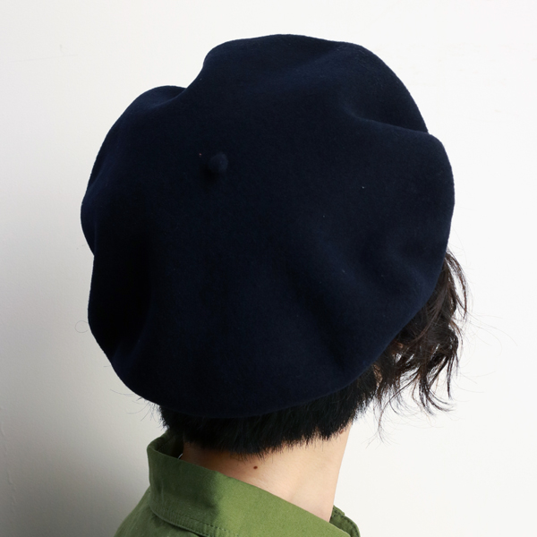 Private with LAULHERE beret Cap men's Basque Vera wool winter Hat beret France Basque Laurel wool authentic beret bag laulhere MARINE made in France Laurel Navy Dark Navy (50s fashion) (senior day)