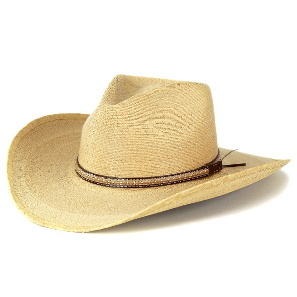 cdbf4765 ELEHELM HAT STORE: Great Western Hat brim wide Hat men's straw hat Stetson  summer brim wide Hat Palm blade stetson cowboy Fedora outdoor spit SAWMILL  ...