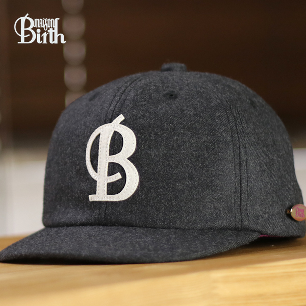 22ea6763217 Cap mens autumn/winter meson birth logo Cap MAISON Birth B.B Cap Baseball  Cap Maison ...