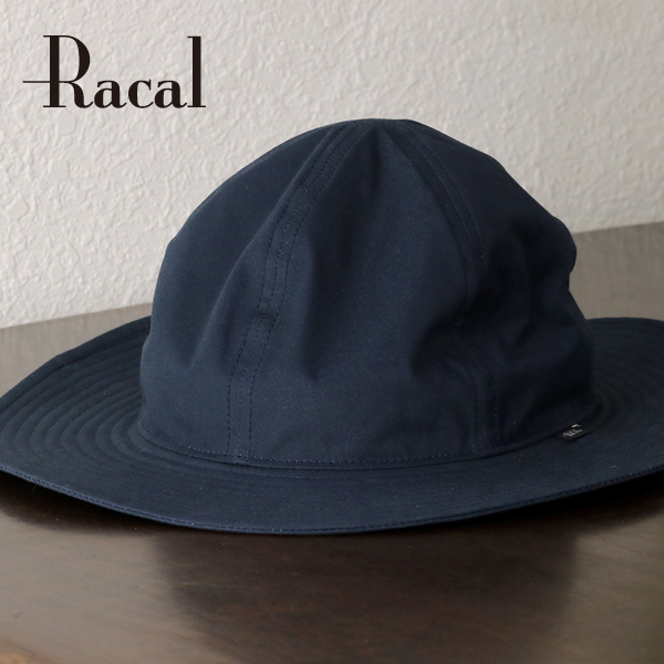 Dark blue navy [campobello hat] made in racal soft felt hat hat men ロングブリムメトロハットメンズ hat awning ラカル broad-brimmed hat men brand cotton racal Japan in the fall and winter