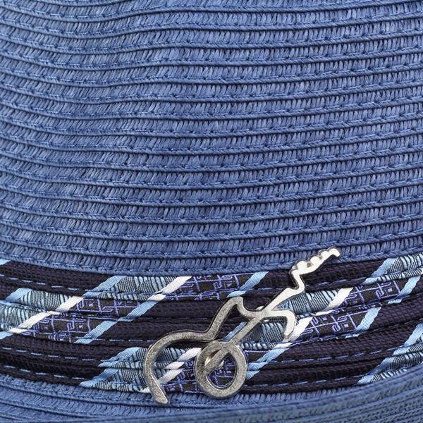모자 남자 스트로 햇 봄 여름 밀 짚 모자 모자 산타나 카를로스 밀 짚 모자 남성 카를로스 산타나 모자 santana 종이 블레이드 봄 여름 중 절 모자 남자 모자 신사 MEMENTO 파랑 블루 [straw hat] (통 판 신사 모자 여름 모자 밀 짚 모자 中折れ帽)