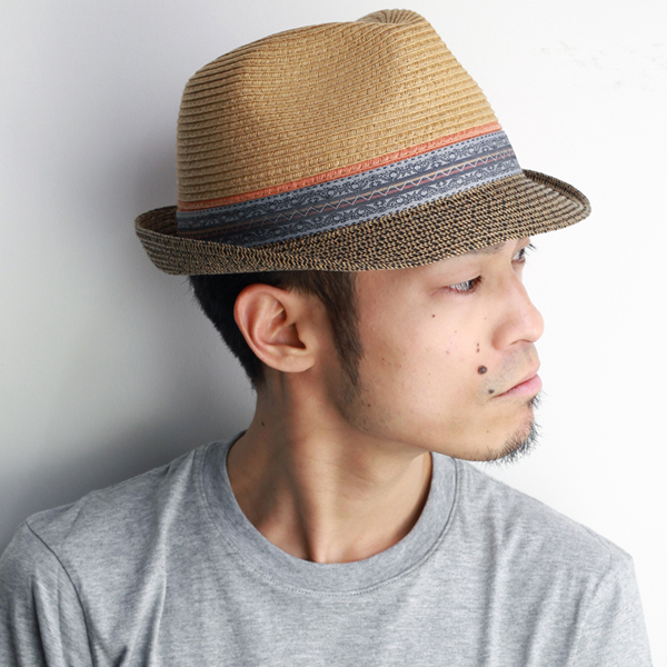 8b12fed0460 Hat men s straw hat spring summer straw hat men s fashion native Carlos  Santana hats men s Carlos Santana hats brand straw hat Hat native pattern    beige ...