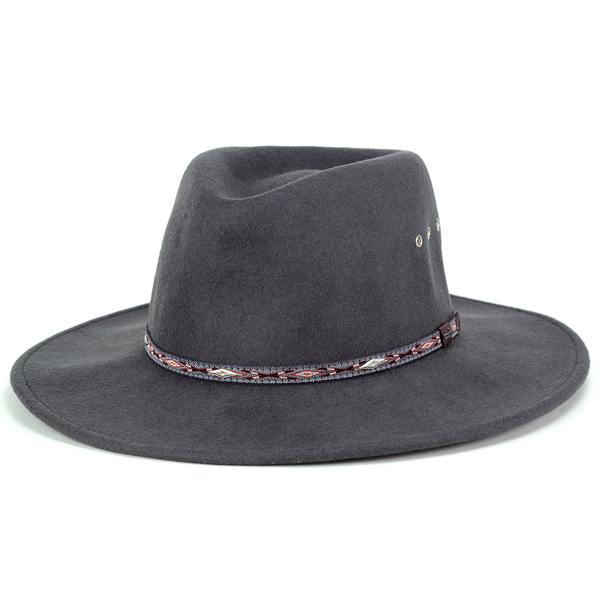ELEHELM HAT STORE  STETSON cowboy hats men s autumn winter big size Hat  Stetson cowboy felt Fedora Hat crushable Hat ELK HORN XL size and gray  (Western Hat ... 047186a9e90