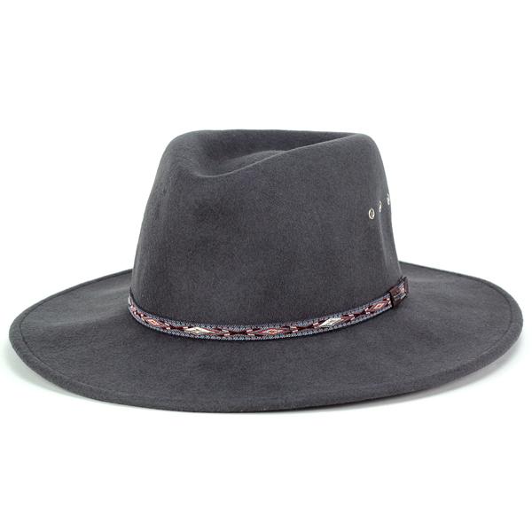 STETSON カウボーイハット メンズ 秋冬 大きいサイズ 帽子 ステットソン カウボーイ フェルト テンガロンハット クラッシャブル ハット ELK HORN XLサイズあり グレー (ウエスタンハット ウール ウールハット フェルトハット テンガロン) [cowboy hat]