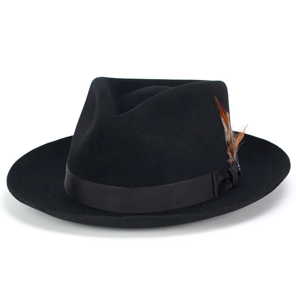 Stetson hat stetson 150 anniversary of turu Hat mens DOWNS Caps hats Hat  box with black Black gentlemen only (57 cm 59 cm 61 cm fall/winter brand  hats