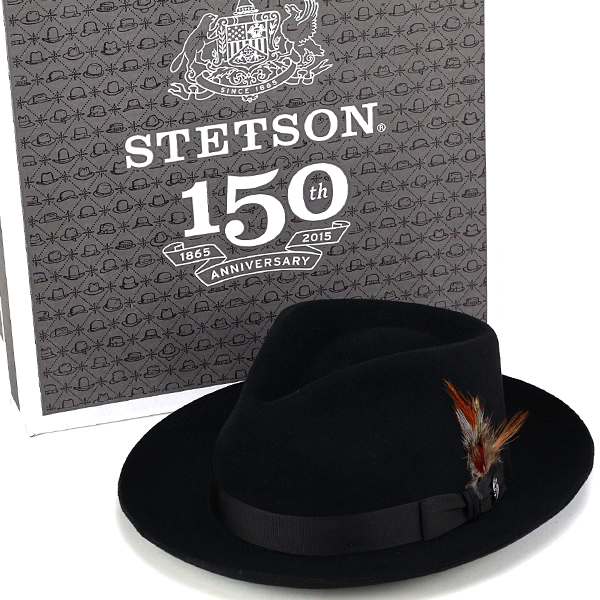 27af845db80 Stetson hat stetson 150 anniversary of turu Hat mens DOWNS Caps hats Hat  box with black ...