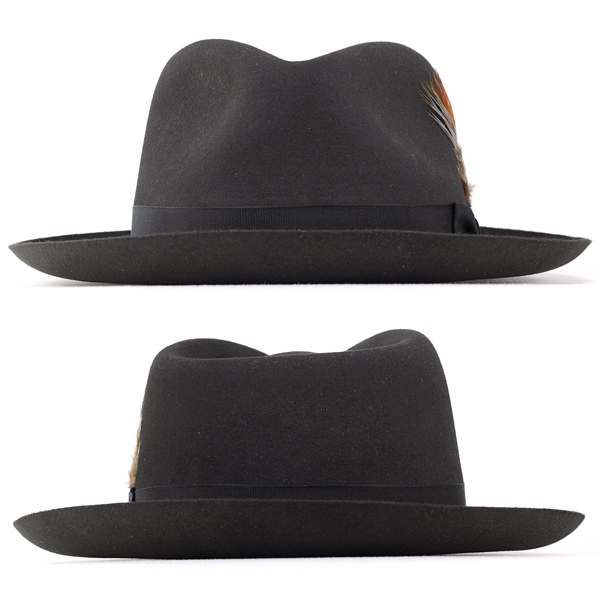 d4420f4201491 Stetson hat Stetson 150th anniversary turu Hat mens far felt Hat DOWNS Caps  hats gentleman Hat BOX with private gray graphite (57 cm 59 cm 61 cm fall  and ...