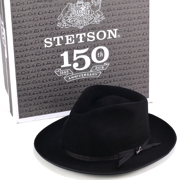 1a2d14b69 Stetson hat fur felt Hat stetson stratolinr150 anniversary hat made in USA  dedicated Hat BOX with black (57 cm 59 cm 61 cm fall/winter brand 40s 50s  ...