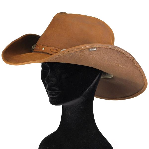 ... Stetson cowboy hats men s autumn-winter size and hat leather stetson  with Concho Plains Hat 41933fd2f4c