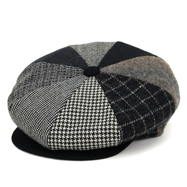 Greater NEW YORK HAT newsboy patchwork men s New York Hat newsboy cap wool  NEWSBOY 8- ... a9a8c51f945