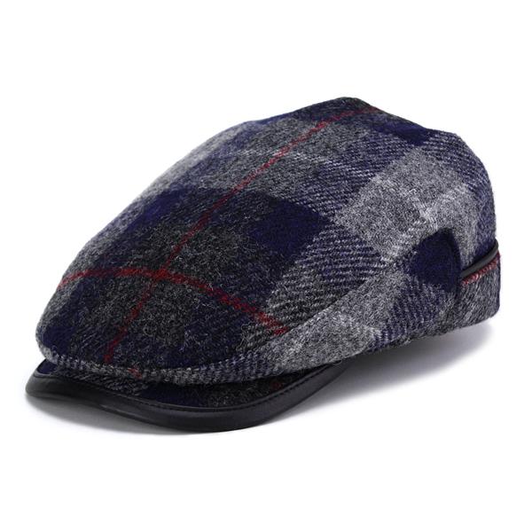 f01c0933a5a03 ELEHELM HAT STORE  KASZKIET Cap Harris Tweed Hat Cap fall winter casket  check KASZKEIT HARRIS TWEED gray (the 50s presents men s hats mens Hat  Grandpa ...