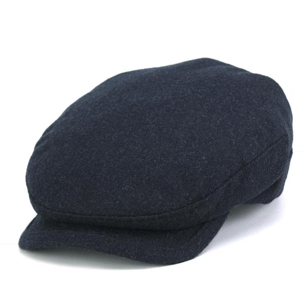 KASZKIET ハンチング カシミヤ 帽子 秋冬 メンズ フランネル ハンチング帽 カシュケット インポート 紺 ネイビー カシミヤ100% ポーランド製 [ ivy cap ] (メンズハット おじいちゃん 誕生日プレゼント 紳士帽子 50代 ファッション)