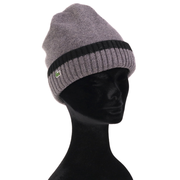 23bf9129f15c9 Lacoste knit Cap Kamon autumn winter NET watch men s lacoste Hat knit  Womens winter outdoors simple line knit Cap thick easy to cover men and  women and for ...