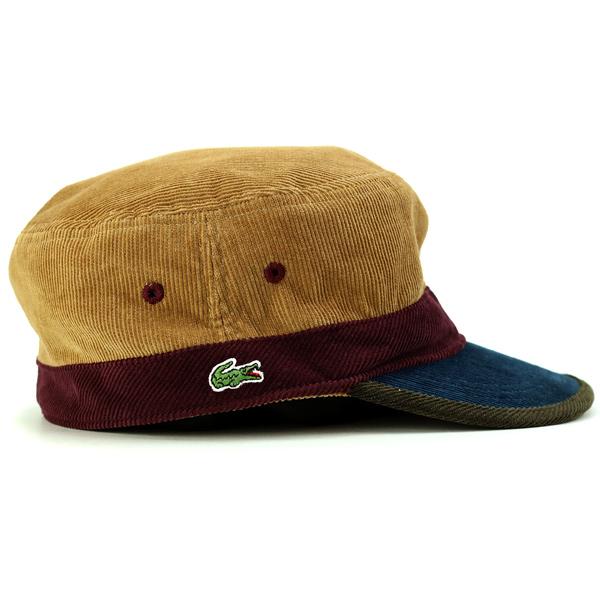 fa13d3ce5fc Lacoste Cap corduroy men s autumn-winter men s Cap Lacoste hat made in  Japan Wani mark de Gaulle 3 tone color Cap gentleman fashionable beige  (aged