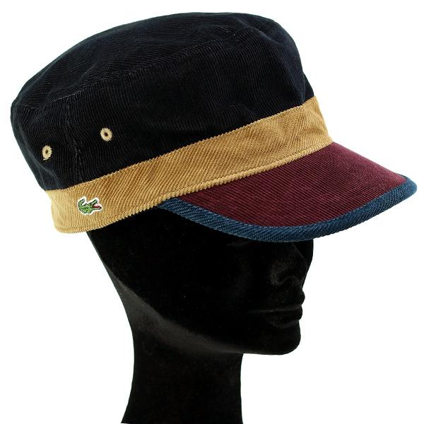 f14feddf564 Lacoste Cap corduroy men s autumn-winter men s Cap Lacoste hat made in  Japan Wani mark de Gaulle 3 tone color Cap gentleman fashionable Navy Blue  (aged
