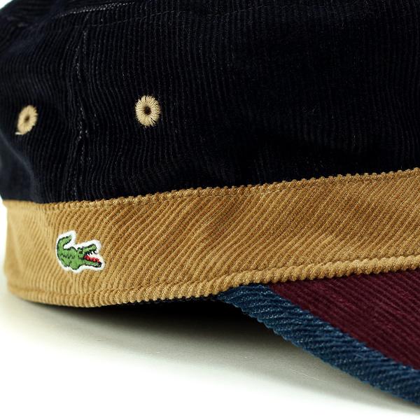 ed348fb9bac ... Lacoste Cap corduroy men s autumn-winter men s Cap Lacoste hat made in  Japan Wani mark ...
