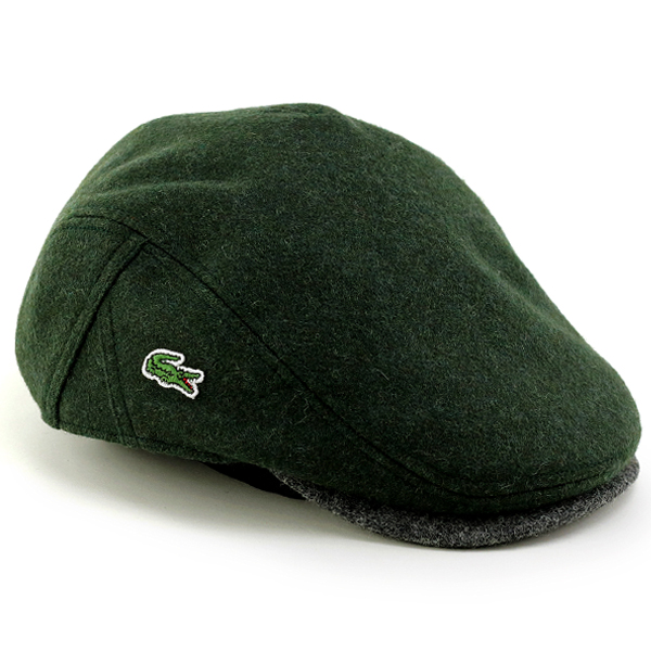 b89edc556 LACOSTE hunting men s autumn winter Melton by color Lacoste Hat men s  hunting Hat Ivy Cap grey green green (aged