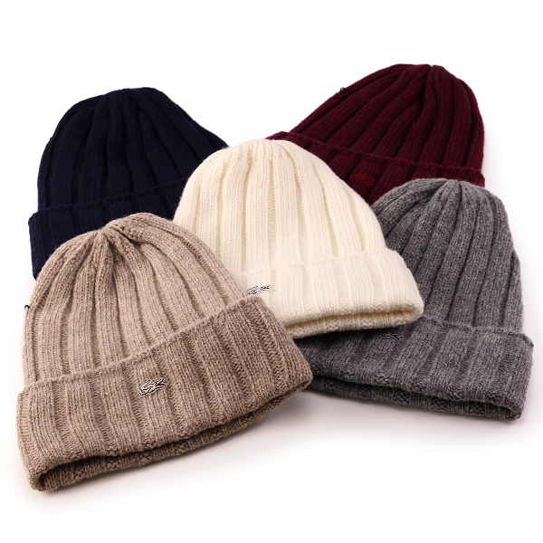 ... Lacoste knit hats winter lacoste knit Cap sports fall men s knit winter  lacoste ribbed NET watch bfe9e723166