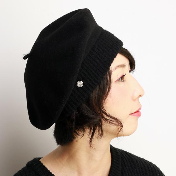 cb8edfca ... Beret Cap Laurel LAULHERE ladies Parisienne France fashion Paris Basque  Vera parisienne black [beret] ...