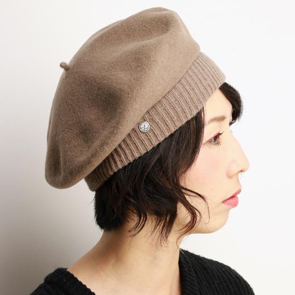 aa174c3fec5 Fashion beret Cap Laurel LAULHERE ladies beret Hat Parisienne-France Paris  Basque Vera parisienne Mocha (senior day)