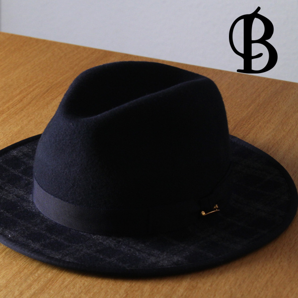 910ab982aa9 Meson birth Hat men's autumn wool check pattern collar wide Hat winter made  in Japan MAISON Birth Hat check flat brim maison birth turu Hat tear drop  cap ...