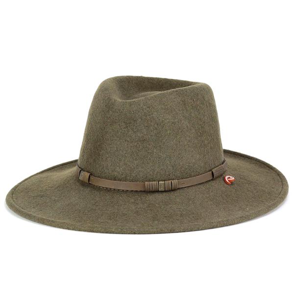 d7b94cbf214cc Stetson cowboy hat stetson Hat men s autumn winter felt Hat brim wide  crushable HALF DOME collar wide Hat men s felt Hat L size 59 cm olive (Western  Hat ...