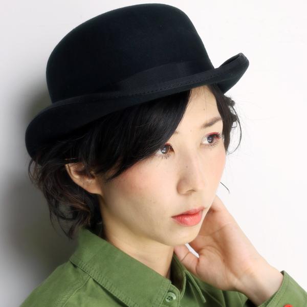 SCALA ボーラーハット レディース スカラ 帽子 メンズ ハット ダービーハット ウール フェルトハット ブランド 秋冬 クラウンの丸い帽子 レディースハット 正装 帽子 婦人帽子 黒 ブラック [derby hat] フェルト