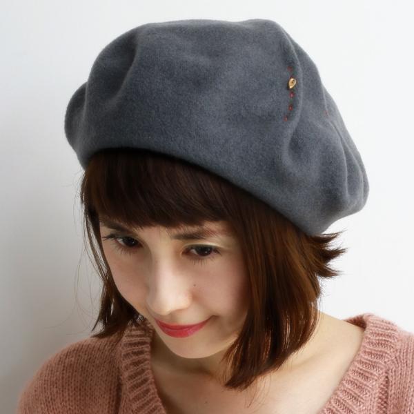 barairo no bousi beret Hat ladies fall winter Japan made wool a largish one  size ... 003eb04f455
