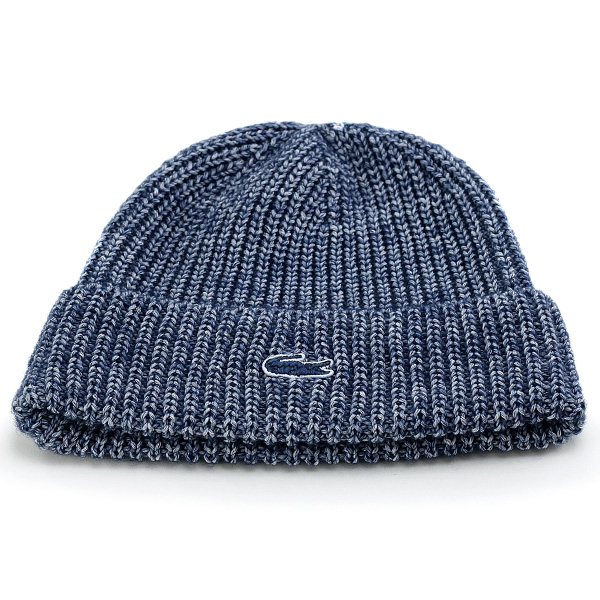 3c0b376b40 ELEHELM HAT STORE: Lacoste knit Cap fall/winter men's blue series ...