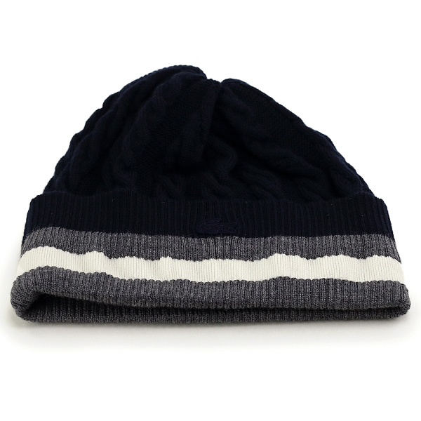 3291a1466 Lacoste women's fall, knit caps Lacoste cable knit mens winter knit hat  women's sporty Hat NET watch lines with LACOSTE store Navy Blue made in  Japan ...