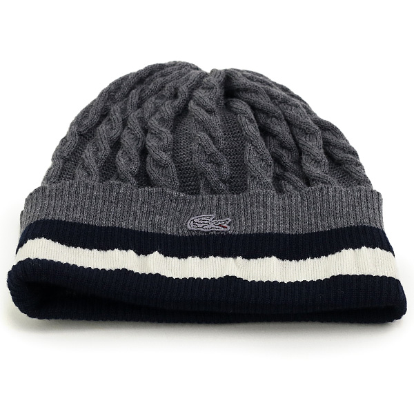 f0326a73278 ELEHELM HAT STORE  Knit hats men s Lacoste cable braided lines with LACOSTE  knit hat women s monotone winter cold NetWatch outdoor winter sports Hat  outfit ...