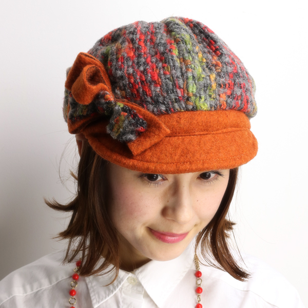 Casket Womens fall winter pattern of robertidea Hat Roberto idea felt  newsboy wool ladies knit ... 47857a661c7