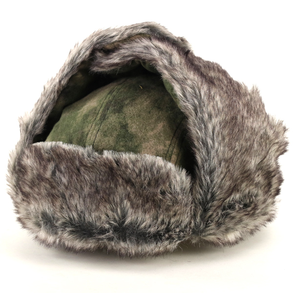 New Ladies Men/'s Green Grey Camouflage Ear Lap Army Hat Winter Collection Hats