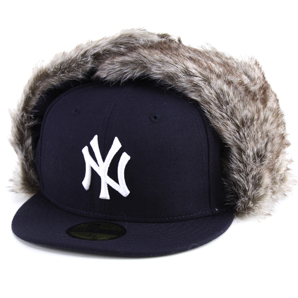New era Cap with ear fur Trapper Cap NEWERA flying CAP s warm winter hats  new era 59FIFTY   Navy Navy flying cap Christmas gift male female f217165b4bb