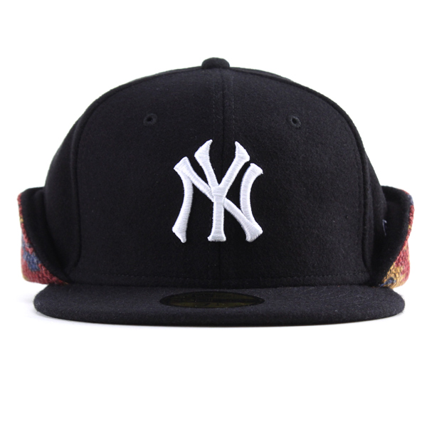 489c8679091 Newera hats fall winter men with ear new era Cap 59FIFTY CAP Yankees  earmuffs Cap NEWERA Cap native pattern West Coast fashion fashionable  casual size rich ...