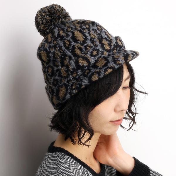 Elehelm Hat Store Leopard Pattern New York Hat Hat Knit Leo Soft
