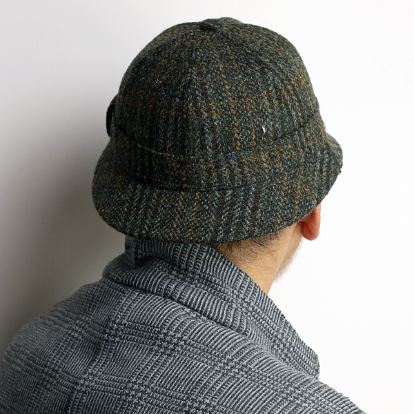 5ba61804206 Clan Beth detective Cap harris tweed Sherlock hat made in France deer  stalking Hat crambes Harris Tweed CRAMBES autumn winter men s detective hat  Sherlock ...