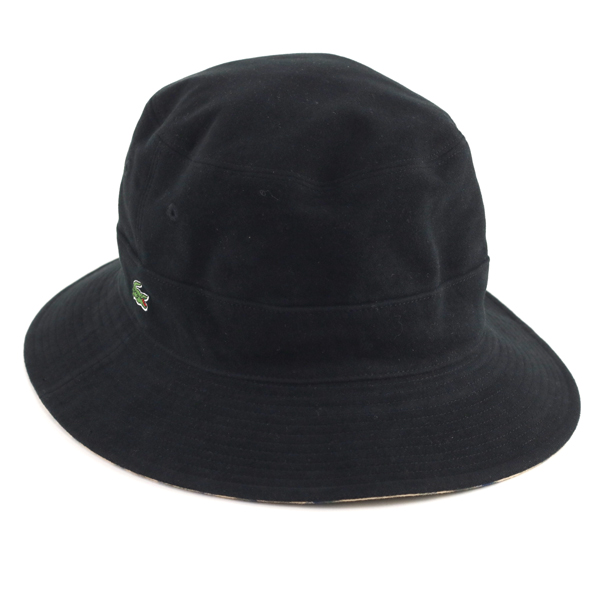 Check plain fabric Lacoste hat Sakha re-lady s hat casual outdoor awning  gentleman hat crocodile brand   black black  bucket hat  present male woman  ... f2d6ee1da1f