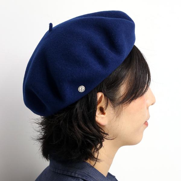 LAULHERE beret Hat men s made in France brand fashion roller wool women s  autumn winter Basque Vera plain simple Hat Laurel real beret laulhere MARINE  ... e692db7f7b72