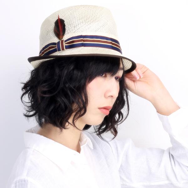 レディース ハット 春夏 ストローハット レディス 帽子 小つば クラッシュ加工 麻 ハット リボン 紺 ネイビー / ホワイト (帽子 ぼうし UVカット帽子 おしゃれ きれいめカジュアル 30代 40代 ファッション 男性 紳士 女性 婦人 通販 ) 日本製 [ straw hat ]