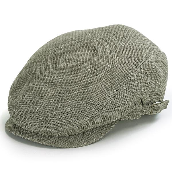 7e4ed2b53ee Size richness hat mesh size adjustable gentleman hunting cap hat Shin pull  plain fabric green system khaki   olive  ivy cap  that the Borsalino ivy cap  ...