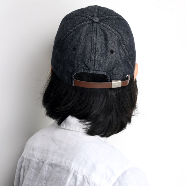 43544fc011c lacoste hat lady s casual denim CAP cotton 100% denim hat awning LACOSTE  crocodile brand back adjuster size adjustable black black  cap  man hat  present ...