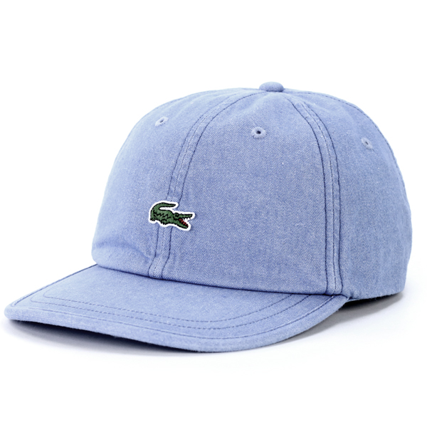 0f95dc983fa LACOSTE hat lady s casual denim CAP cotton 100% denim hat awning crocodile  brand back adjuster size adjustable dark blue navy  cap  man hat present  made in ...