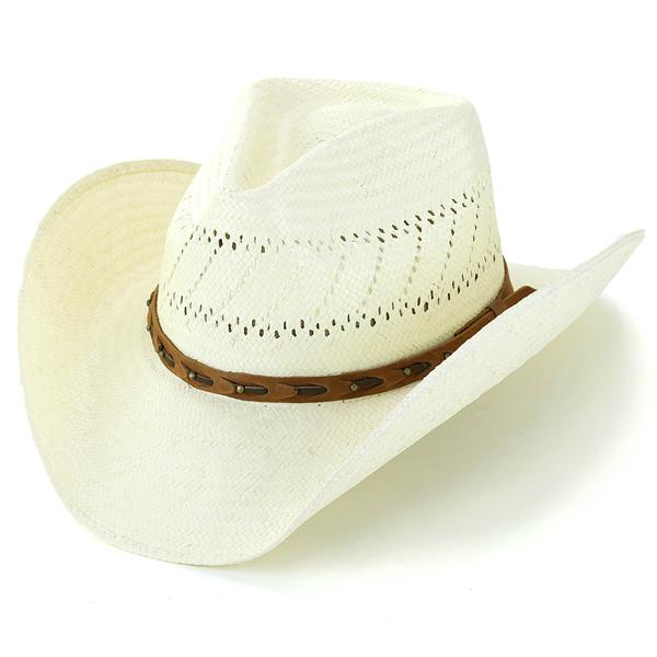 STETSON ストローハット テンガロンハット 春夏 ステットソン カウボーイハット メンズ ワイドブリム 中折れ シャンタン 天然素材 大きいサイズ Mサイズ Lサイズ XLサイズ /ナチュラル [ cowboy hat ] [ straw hat ] stetson 帽子通販 男性 誕生日 プレゼント 父の日