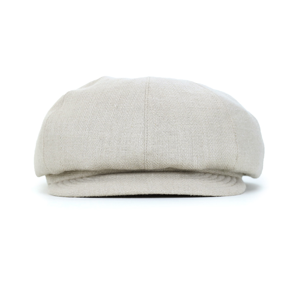 ad45aaca ... Shin pull linen herringbone material MAISON Birth hat casquette plain  fabric Lady's adjustable size tape adjuster ...